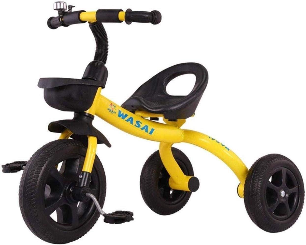 Archivador plano Triciclos Triciclo Niño Bicicleta del niño Triciclo Silla de Paseo con Bicicleta clásica de Bell al Aire Libre de la Bici del Triciclo del bebé Cubierta Adecuado niños 1-3-6 años