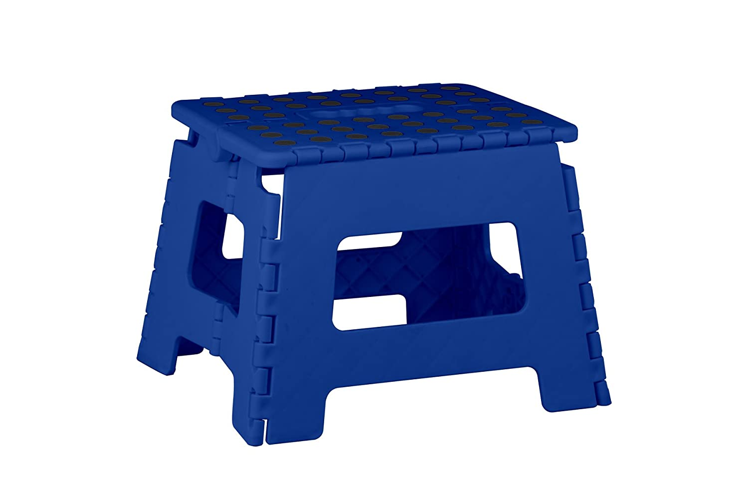 Home Basics Kids Folding Stool with Non-Slip Dots (Medium, Black) HDS Trading Corp