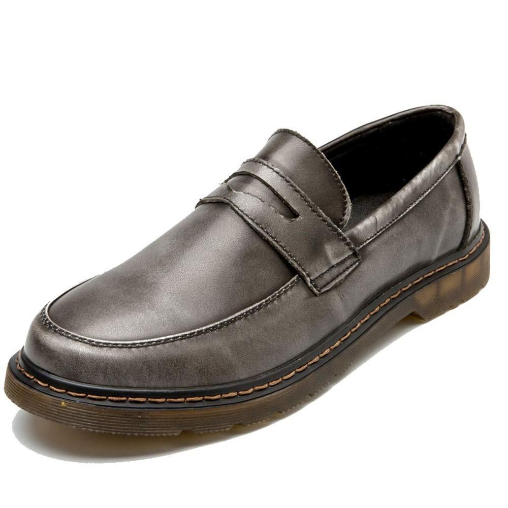 Ofgcfbvxd Männer Casual Slip On Arbeiten Sie Oxford Bequeme EIN Runde Zehe Abdeckungs Füße EIN Bequeme Fuß Pedal Schuhe um Mokassins Erwachsene gemischte Stadt Schuhe (Farbe : Blau, Größe : 46 EU) Grau b66fe7