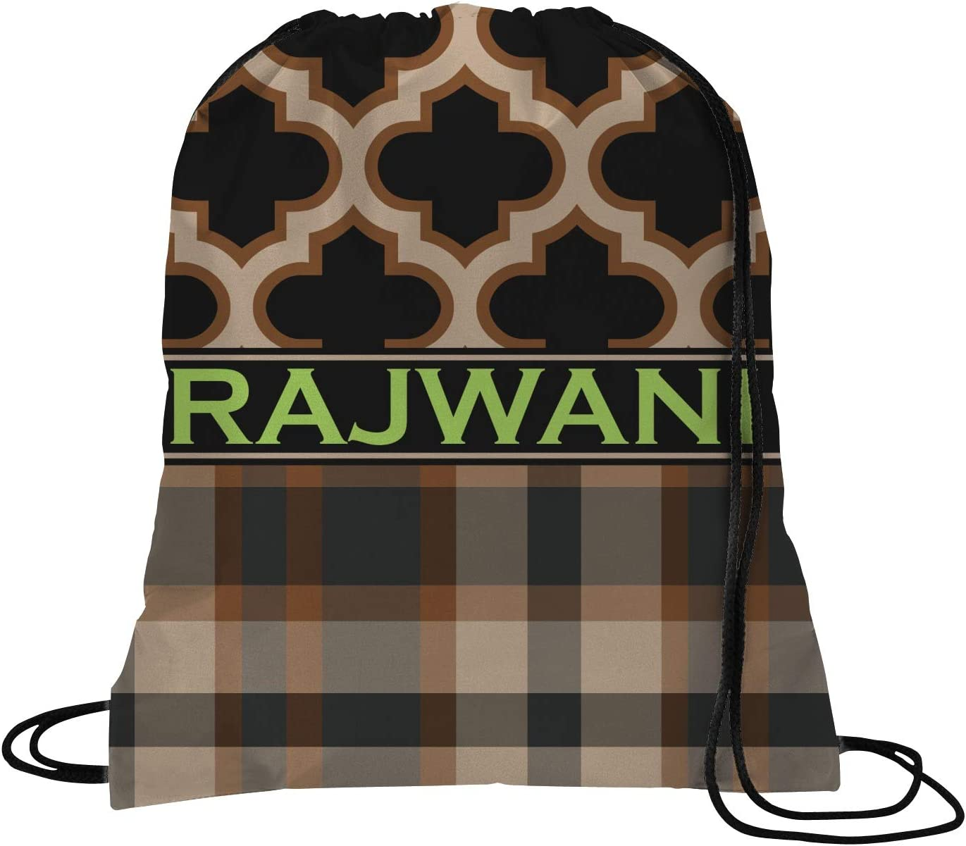 YouCustomizeIt Moroccan /& Plaid Duffel Bag Personalized
