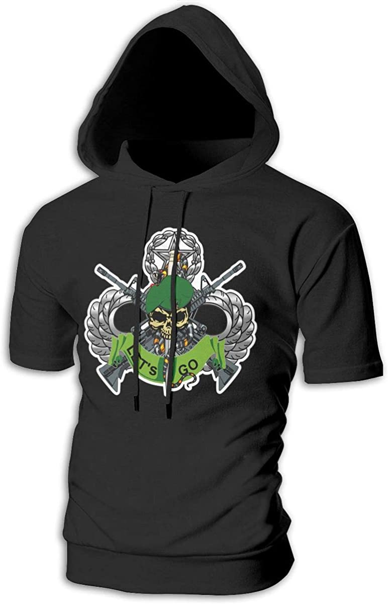 Azreal Duan Sticker U S Army Flash 10th Special Forces Group Mens Slim Fit Short Sleeve Hoodie Pullover Hooded