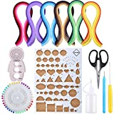 Anpatio DIY Paper Quilling Kit 29 Gradient Colors 600 PCS Art Strips 8 Set Quilling Tools for DIY Craft Quilled Creations Beginners Width 5mm