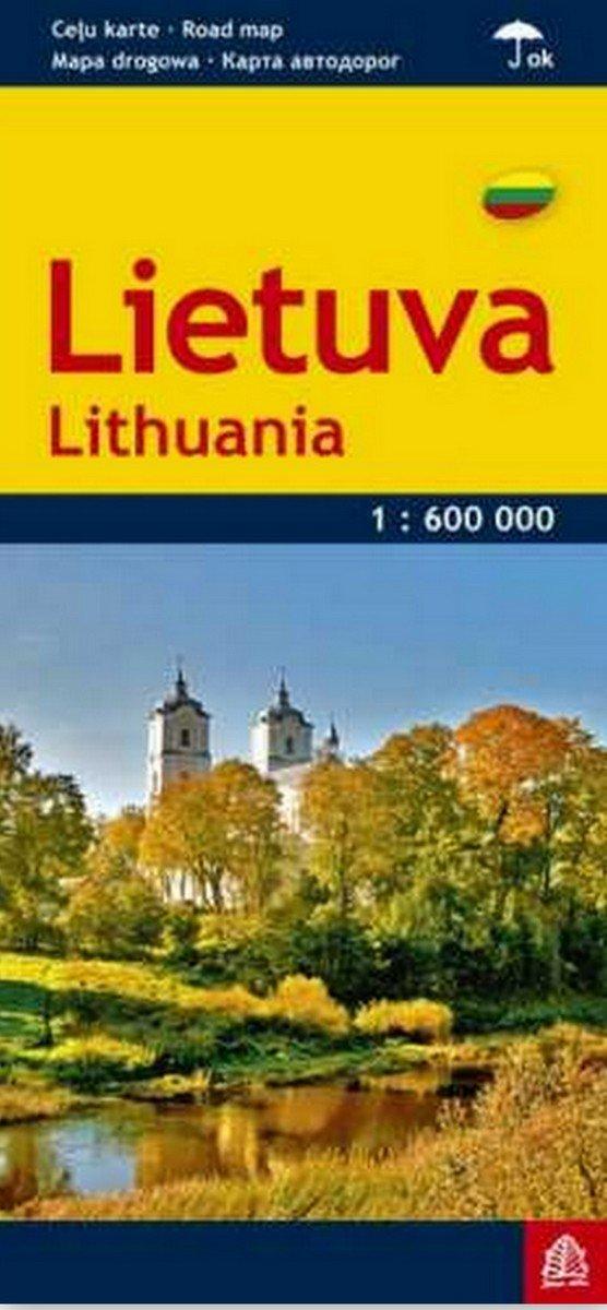 Lithuania Road Map Jana Seta 9789984076003 Amazoncom Books