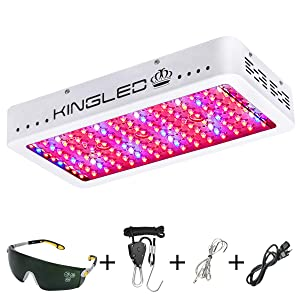 King Plus 1200w LED Grow Light Full Spectrum for Greenhouse Indoor Plant Veg and Flower(Dual-chip 10w LEDs)