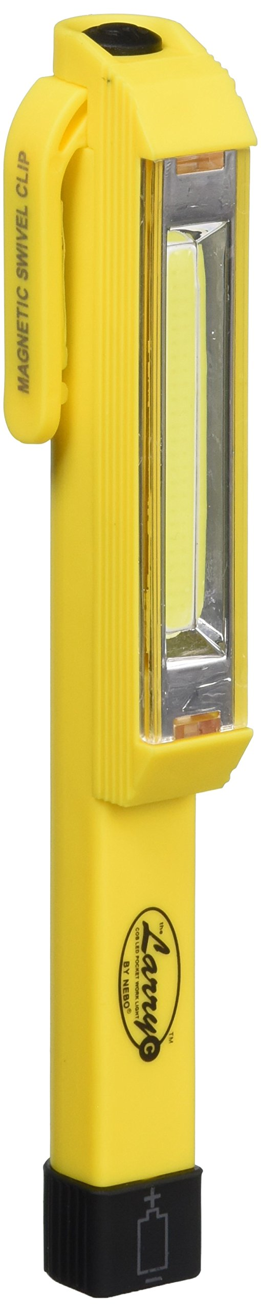 Nebo Larry C Power C-O-B LED Work Light (Set of 3-Yellow) Brighter Than Ever, 170 Lumens of Intense Light