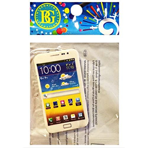 2 GOMMES SMARTPHONE BLANC 6.5 X 3.5 CM PAPETERIE by BG