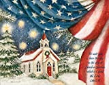 "LANG - ""An American Christmas"", Boxed Christmas Cards, Artwork by Susan Winget - 18 Cards with 19 Envelopes - 5.38 x 6.88 Inches"