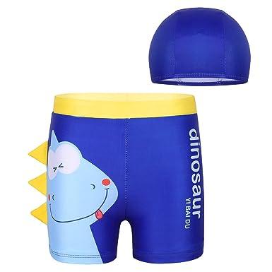 157821d697 Amazon.com: iEFiEL Toddler Little Boys' Quick Dry Dinosaur Swim Trunk Board  Shorts Bathing Suit UPF 50+ Sun Cap Summer Beach Wear: Clothing