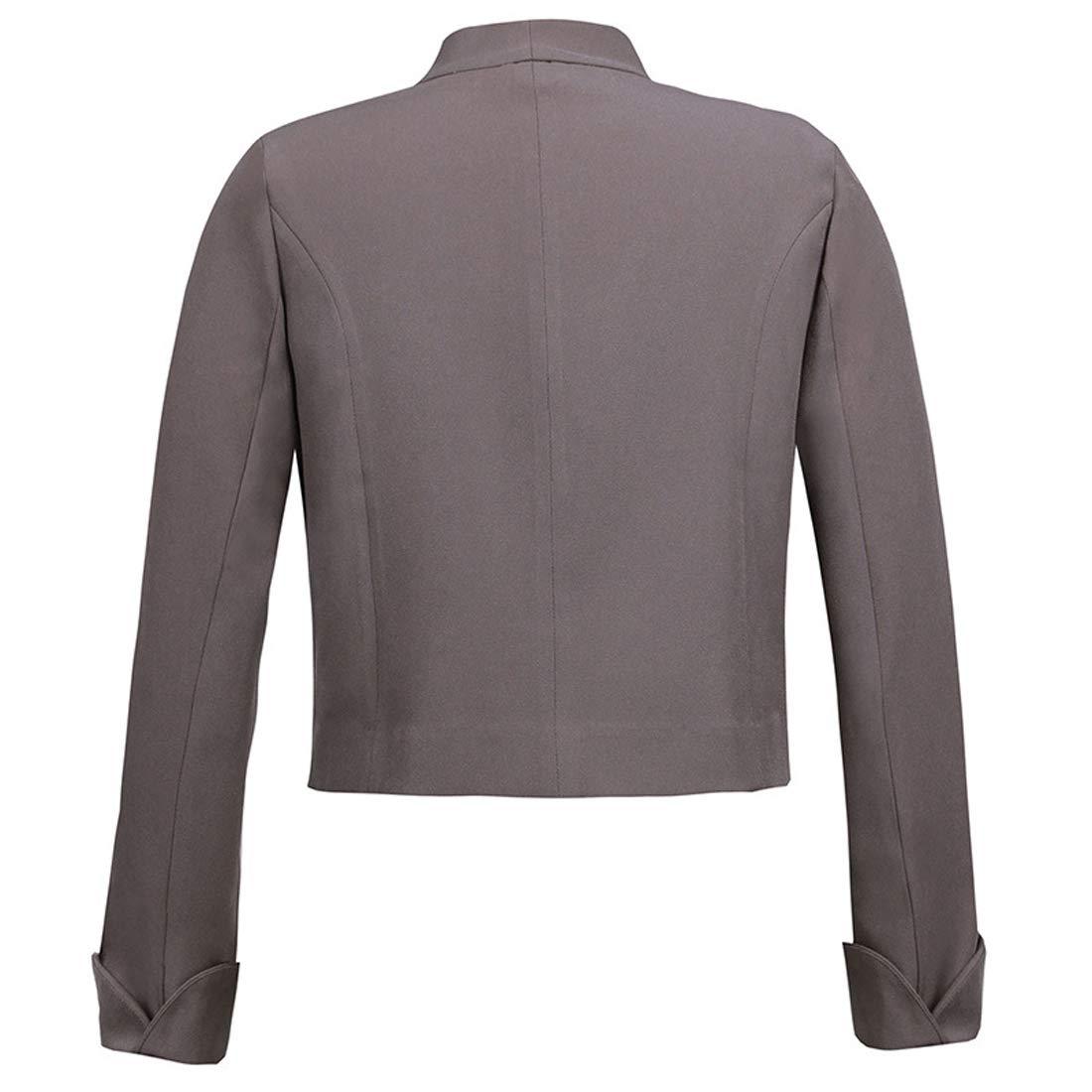 Primavera Autunno Donne Bolero Moda Irregolare Corto Coat Giubbotto Outwear Cardigan Casual Manica Lunga Giacche Cappotti Cime Jacket Blazer