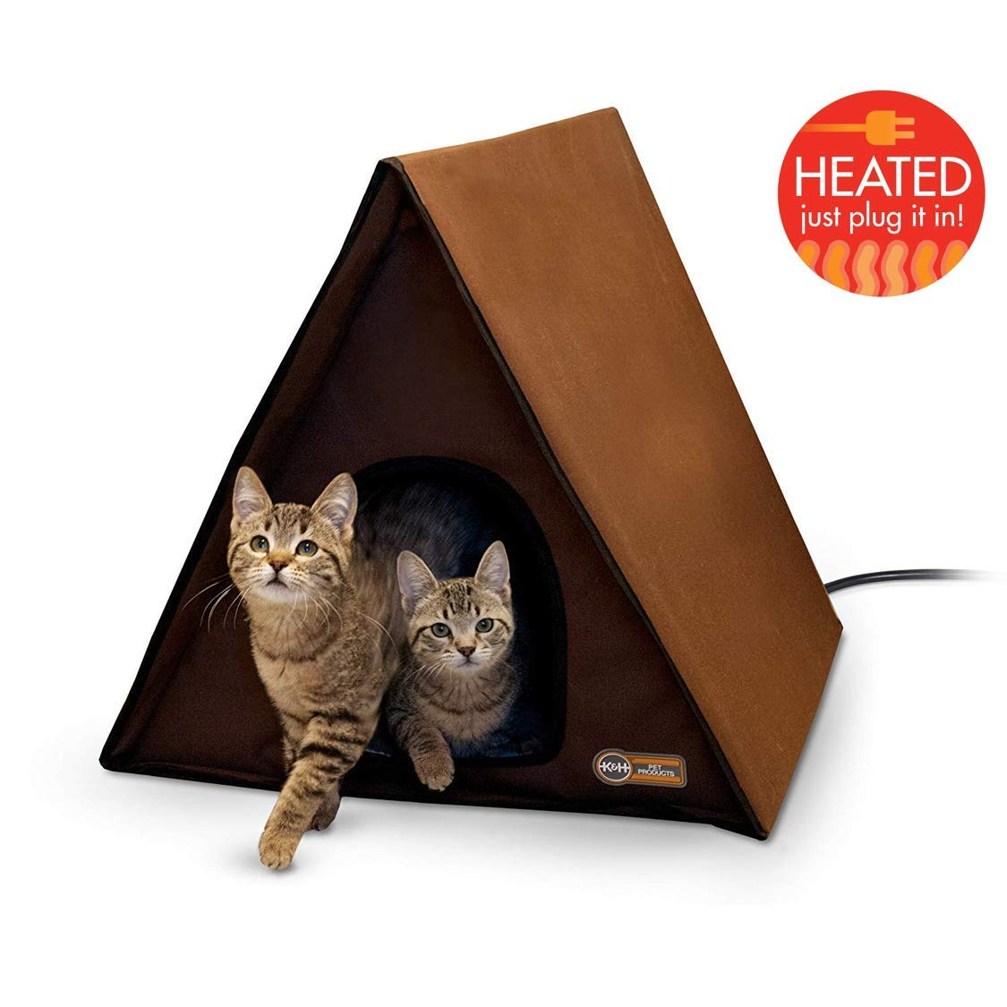 K&H PET PRODUCTS K&H Manufacturing A-Frame Multi-Kitty Outdoor Heated Kitty House