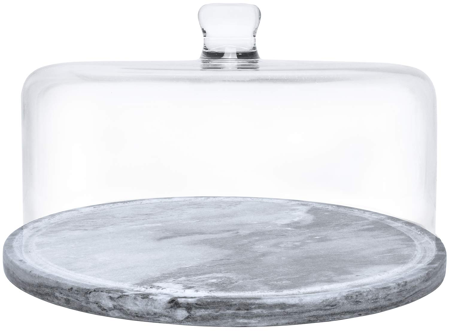 Galashield Marble Cake Stand with Glass Cover Dome