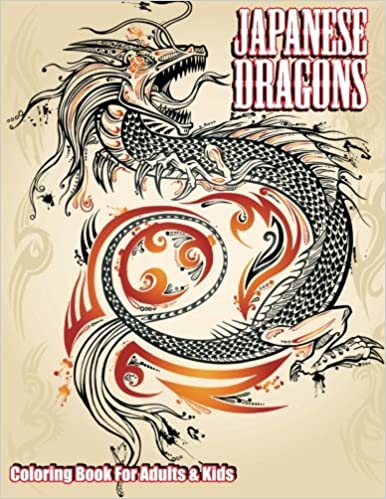 Japanese Dragons Coloring Book For Adults Kids Super Fun Books Volume 50 Lilt 9781502408884 Amazon