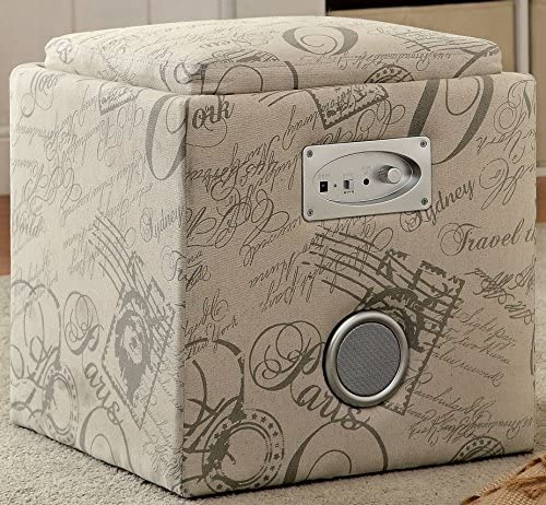 Furniture of America Addio Modern Storage Ottoman