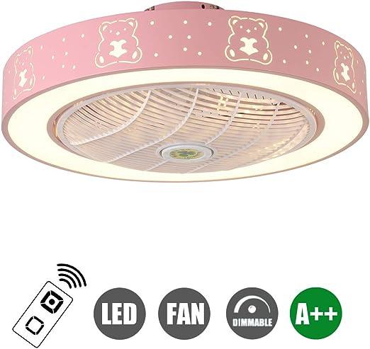 SFOXI Ventilador de Techo con Luz y Mando a Distancia, Moderna LED ...