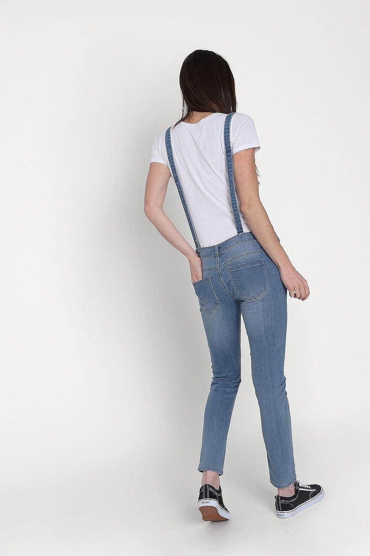 Blu Denim Salopette Taglio Skinny Overalls TALIA3PALEBLUE Wash Clothing Company Salopette Donna