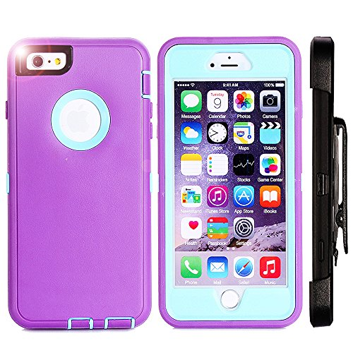 iPhone 6 Plus Case,Harsel 3 Layer Defender Heavy Duty Shockproof Scratch Resistant Hybird 360 Protection & Built-in Screen Protector Case with Kickstand for iPhone 6 Plus/6s Plus 5.5