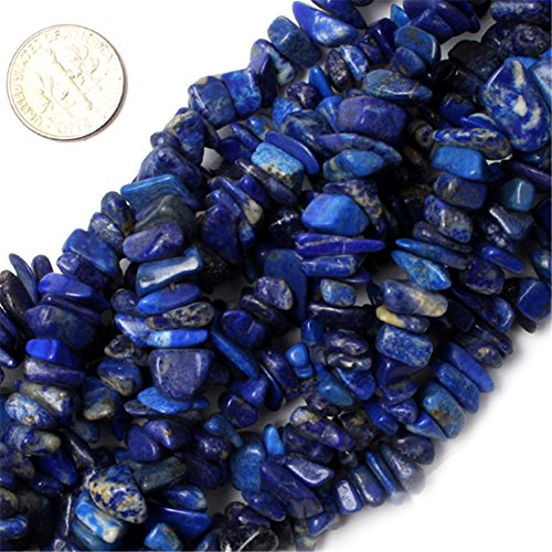 7-8mm Lapis Lazuli Chips Semi Precious Gemstone Beads for Jewelry Making 34