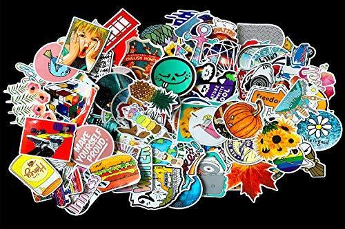 200pcs Laptop Stickers Won't Peel Off Durable Random Stickers Pack, Waterproof Trendy Vinyl Stickers for Water Bottle, Skateboard,Luggage,Bicycle,DIY Decals