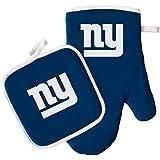 Oven Mitt and Potholder Set - NFL - New York Giants - NFL Team Logo Home Kitchen Indoor Outdoor BBQ Picnic