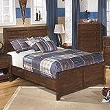 Ashley Delburne Wood Full Panel Bed in Brown