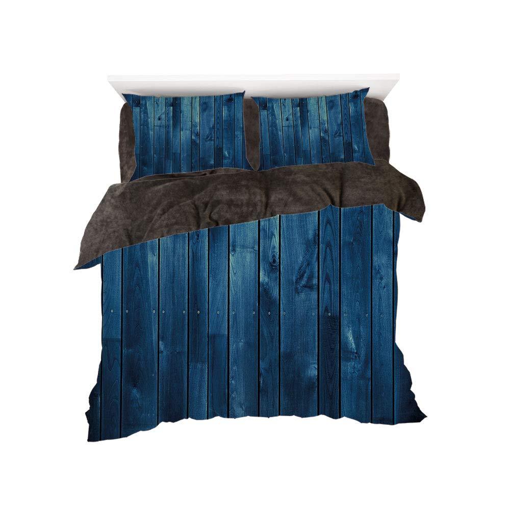 iPrint フランネル布団カバー4点セット ベッドリネン 冬休み柄 ダークブルー 低角度の不気味な森 トールツリー付き ビッグフルムーン ブルー ブラック ホワイト bed width 4ft(120cm) BotingFLR_hei_04953_twin 120 B07L1X6LK7 カラー13(color) bed width 4ft(120cm)