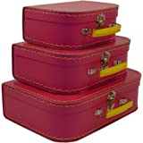 Cargo Vintage Travelers Mini Suitcases, Set of 3, Pinkberry