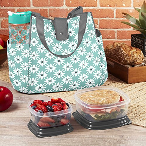 Fit & Fresh Westport Insulated Lunch Bag Kit with Container Set and 20oz Water Bottle…