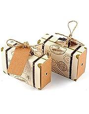 Caja de regalo del caramelo de la maleta de Hondex 50 piezas Caja de regalo del