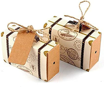 50pcs Kraft Paper Sweets Candy Pillow Gift Boxes Wedding Party Favor Boxes