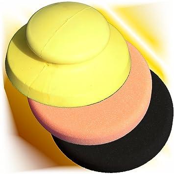 Haitecs Hand Polierteller Schleifteller Klett gelb 150 mm