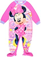 Disney Little Girls' Minnie Mouse Footed Pajama Blanket Sleeper Pink