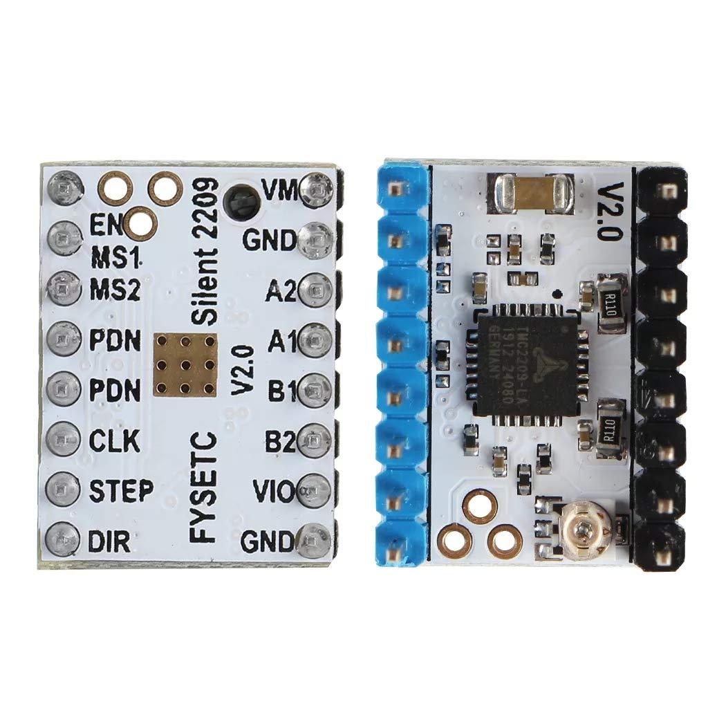 TMC2209 V2.0 Stepper Motor Driver Super Silent Stepsticks Mute Driver Board 256 Microsteps pour imprimante 3D