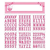 Amscan Celebrate Baby Girl Shower Party Customizable Giant Sign Banner Decoration, Pink and White, Plastic, 65'' x 20''