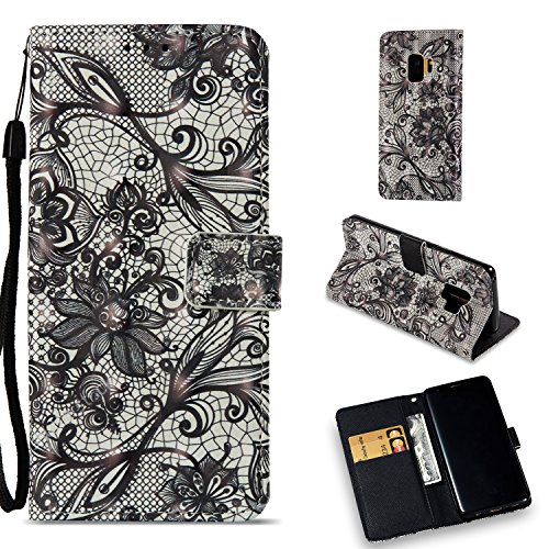 Galaxy S9 Plus Case, UZER 3D Premium PU Leather Shockproof [Kickstand Feature] Folio Flip Wallet Case with Cash/Card Slots Durable Magnetic Book Case for Samsung Galaxy S9 Plus 2018 Model