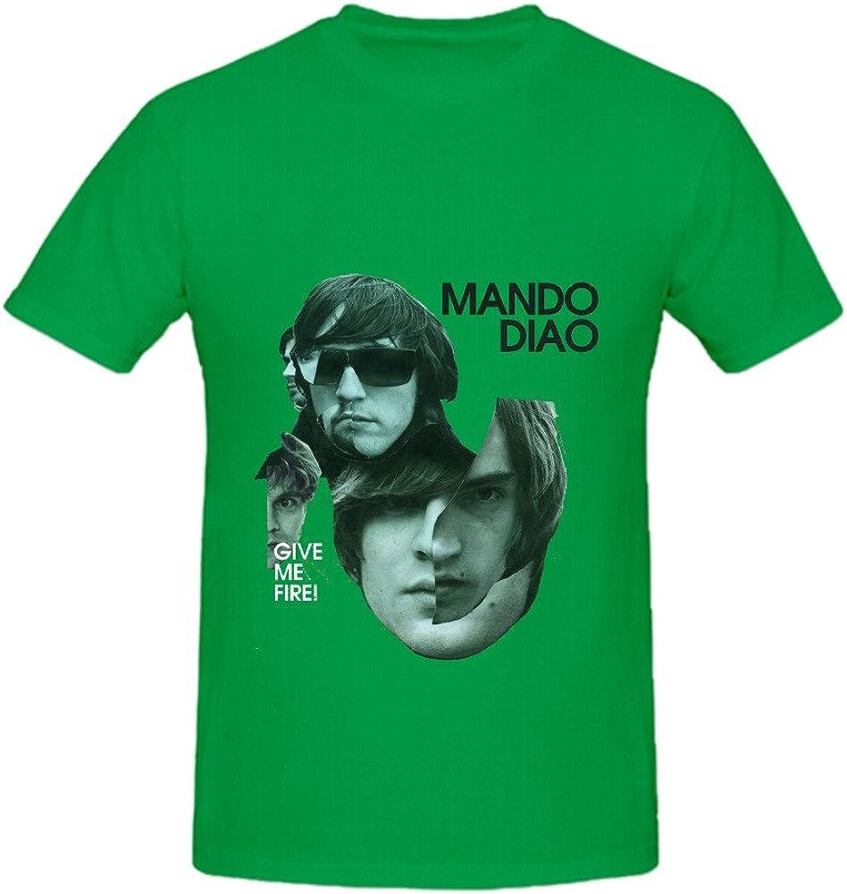 TeeU Mando Diao Give Me Fire Roll Men Crew Neck Cool Tee Shirts