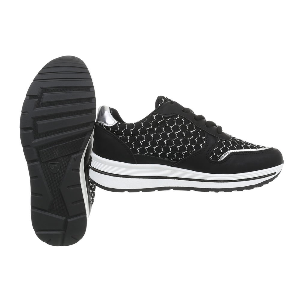 Ital-Design Damenschuhe Freizeitschuhe Sneakers Schwarz Low Schwarz Sneakers PP-23 a47576
