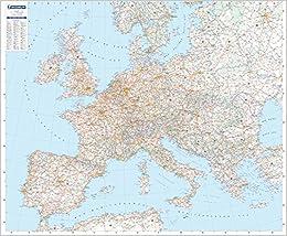 Mapa en tubo Europa Físico Mapas en tubo y plastificados Michelin ...