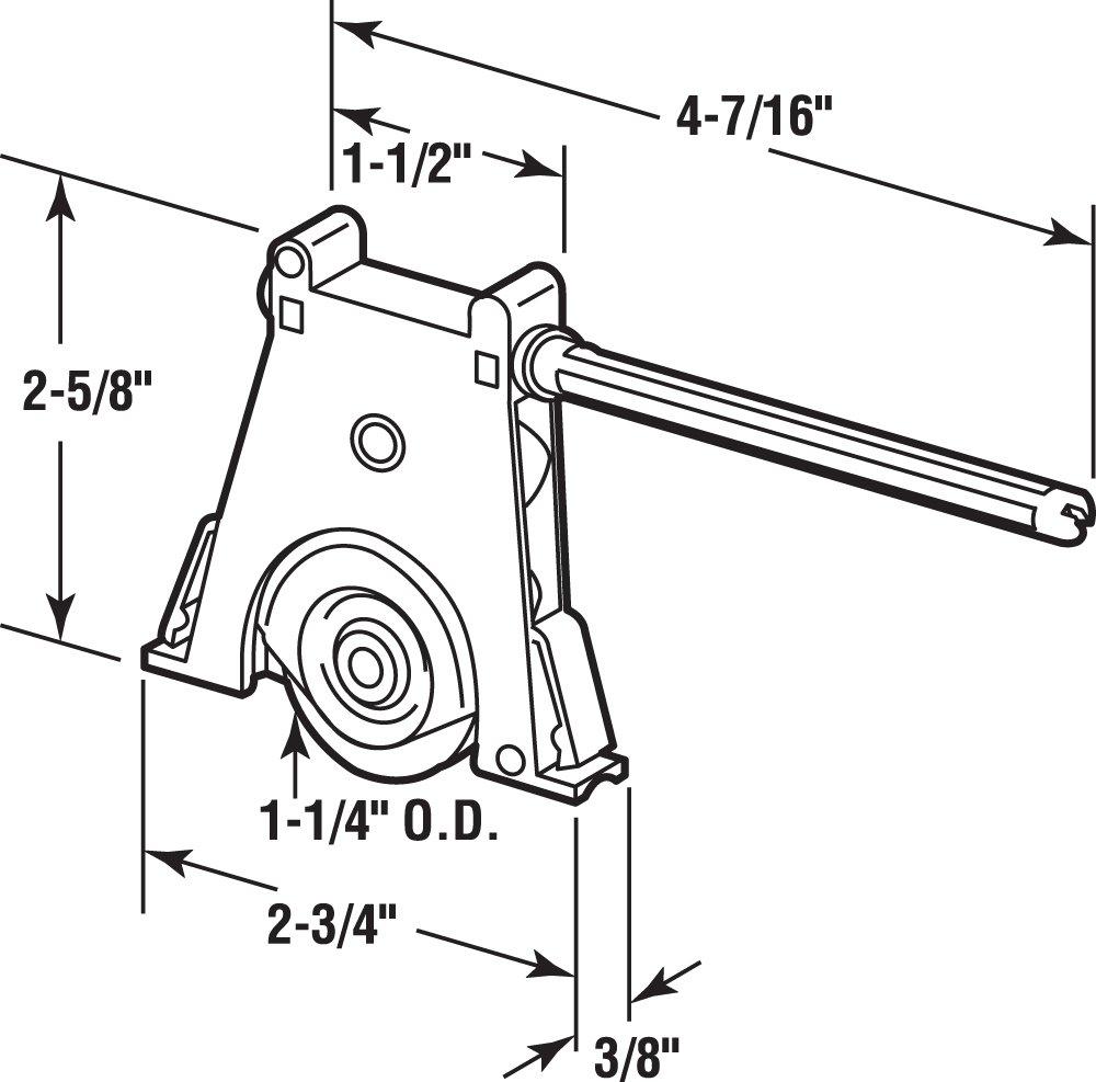 Prime-Line Products B 715 Side Adjustable Screen Door Tension Spring