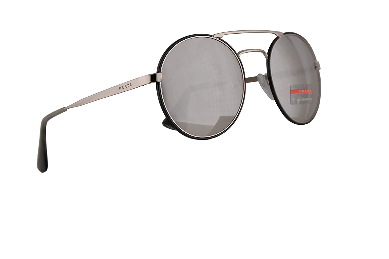 7bf2a4b242c9a Amazon.com  Prada PR51SS Catwalk Sunglasses Silver Black w Light Grey  Mirror Silver Lens 1AB2B0 PR 51SS SPR 51S SPR51S  Clothing