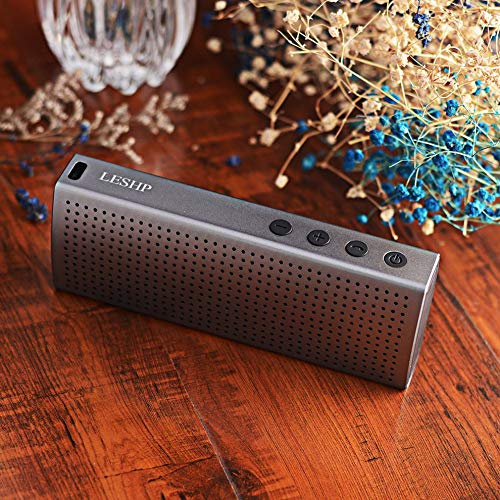 E.I.H. Cow Leather Long Wallet Gray Waterproof IP67 3.7V 2200MA Lithium Polymer Aluminum Speaker Wireless CSR 4.0 8635 Hands-Free 120HZ-20KHZ by E.I.H. (Image #3)