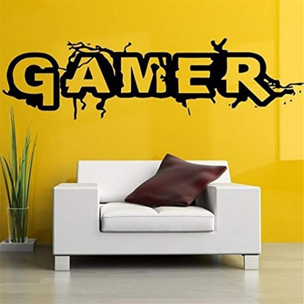 Hbvicts Sticker Bedroom Gamer Letter Removable Living Room Background Wall Sticker Home Decor by Hbvicts (Image #1)