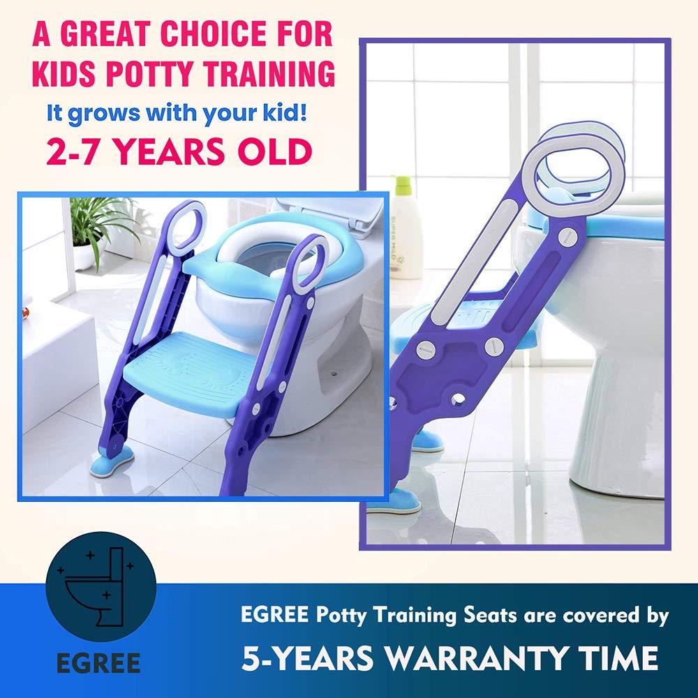 Amazon.com: EGREE Potty Training Toilet Seat with Step ...