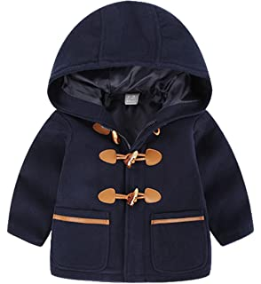 TXYSEFS - Cappotto da Bambini Unisex Misto Lana Invernale Autunnale  Giubbotto Giacca Capispalla con Cerniera Cappuccio fefdd0c48d4