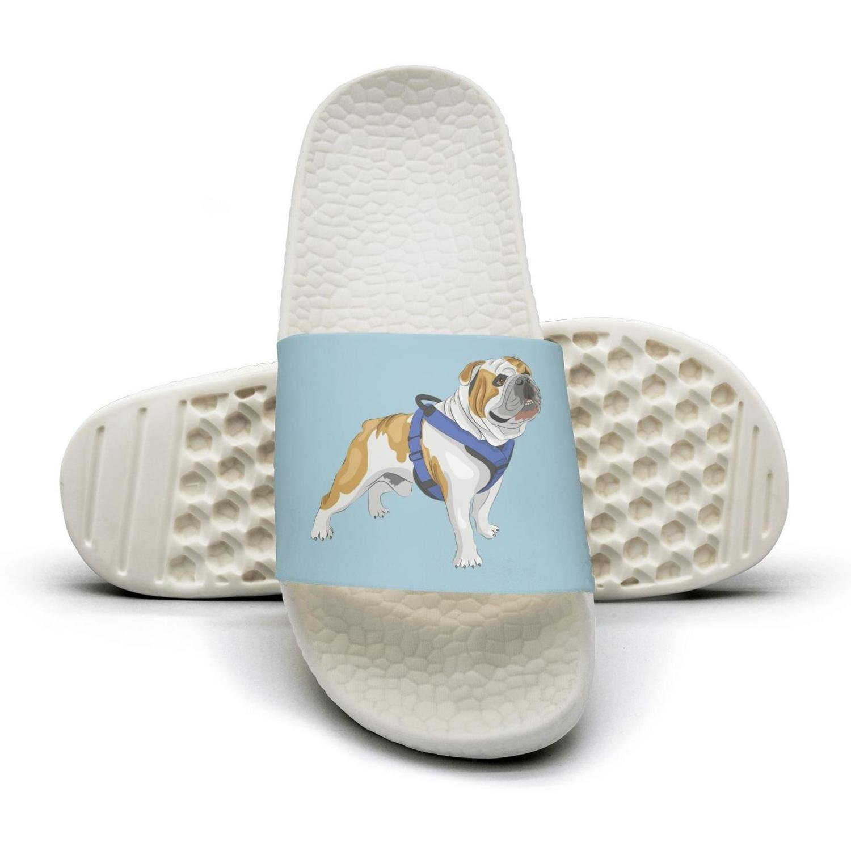 English Bulldog UK Dog Slippers Sandals Slippers for Men