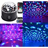 Bluetooth Speaker Lights DJ Party Light Disco Lights 9 Colours 9W Party Disco Ball Projector Stage Lights Strobe Club lights Effect Magic Mini LED Stage Lights Wireless Phone Connection with Remote Control Mirror Ball Rotating Lighting Effect for Home Kids Birthday Party Dance Karaoke Wedding Decorations