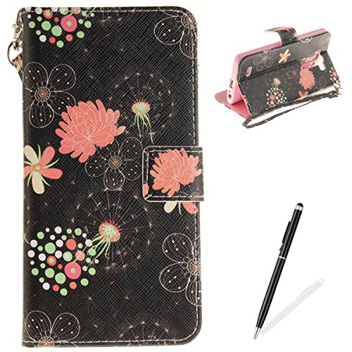 LG G3 Case,MAGQI Leather Case,Premium Slim PU Wallet Cover with Colorful Mandala Design Magnetic Folio Skin Shell for LG G3-Dandelion