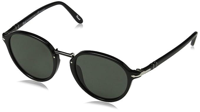 744585b0e Persol Men's 0PO3184S 95/58 51 Sunglasses, Black (Black/Greenpolarized)