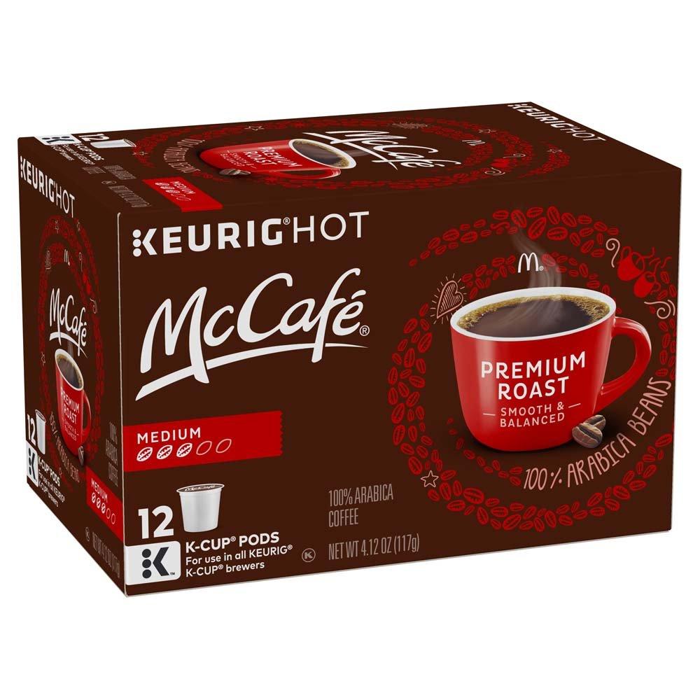 McCafé Premium Roast Coffee, Medium Roast, K-Cup Pods, 12 Count