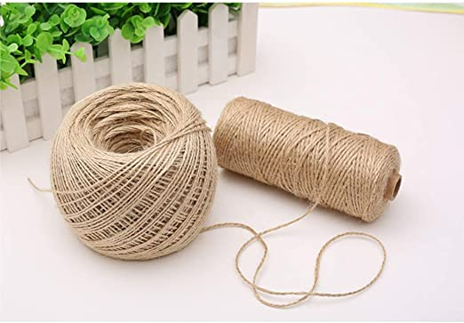 Hooggle Cuerda de Cuerda Decorativa de Cuerda Natural de Yute para jardín de 328 pies (2 Rollos: Amazon.es: Jardín