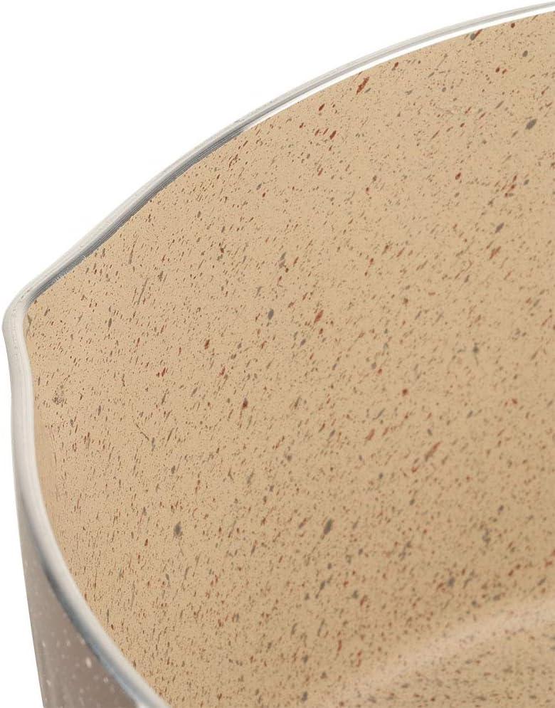 Alinory Milk Pot 18cm Medicals Stone Kleiner Milchtopf Antihaft-Kochtopf f/ür Gaskocher und Induktionsherd